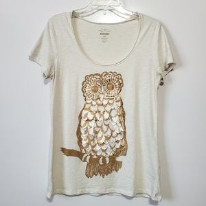 Old Navy | Gold Owl T-Shirt